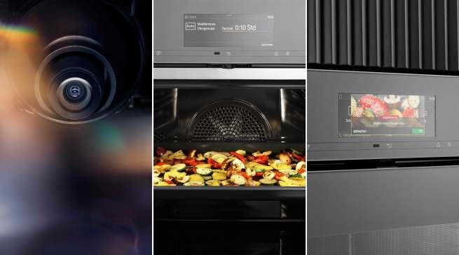 Smart Food ID von Miele: Die Backofenkamera erkennt die Speise und zeigt sie im Display an – nur noch bestätigen und die Zubereitung verläuft vollautomatisch.