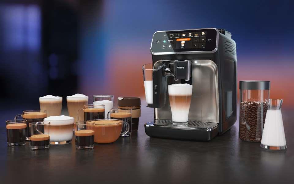 Philips Kaffeevollautomat Serie 5400 mit LatteGo Milchsystem.