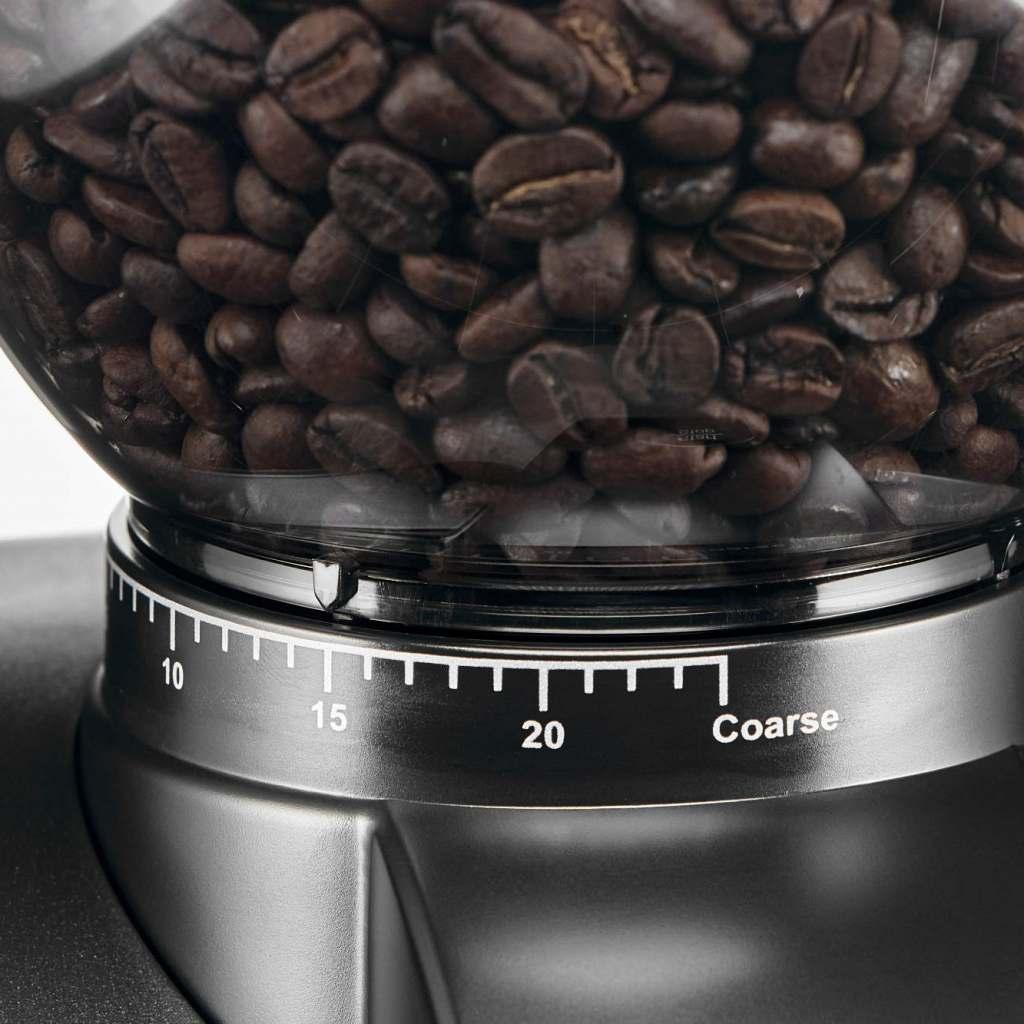 SOLIS Scala ZERO STATIC Kaffeemühle Schwarz Bohnenbehälter