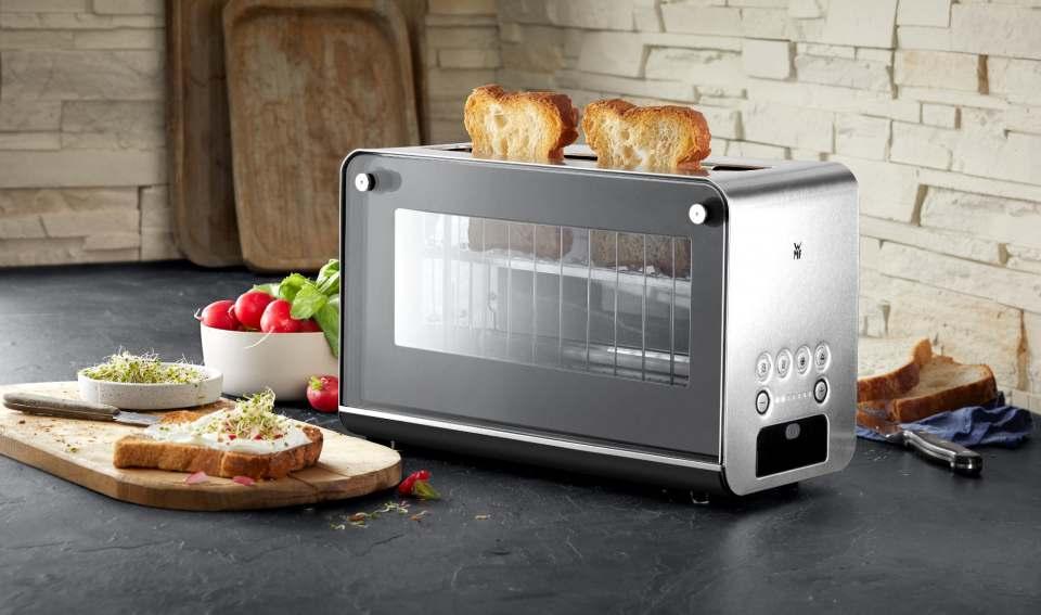 """Erfolgreich im Test und nun """"Produkt des Jahres"""": WMF Glas-Toaster Lono."""