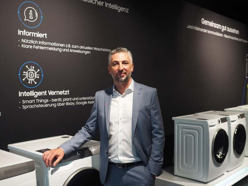 """""""Wir setzen auf eine partnerschaftliche Zusammenarbeit mit dem Handel, wollen künftig noch mehr zu analytischen wie digitalen Themen beraten"""", Nedzad Gutic, Director Home Appliances, Samsung."""