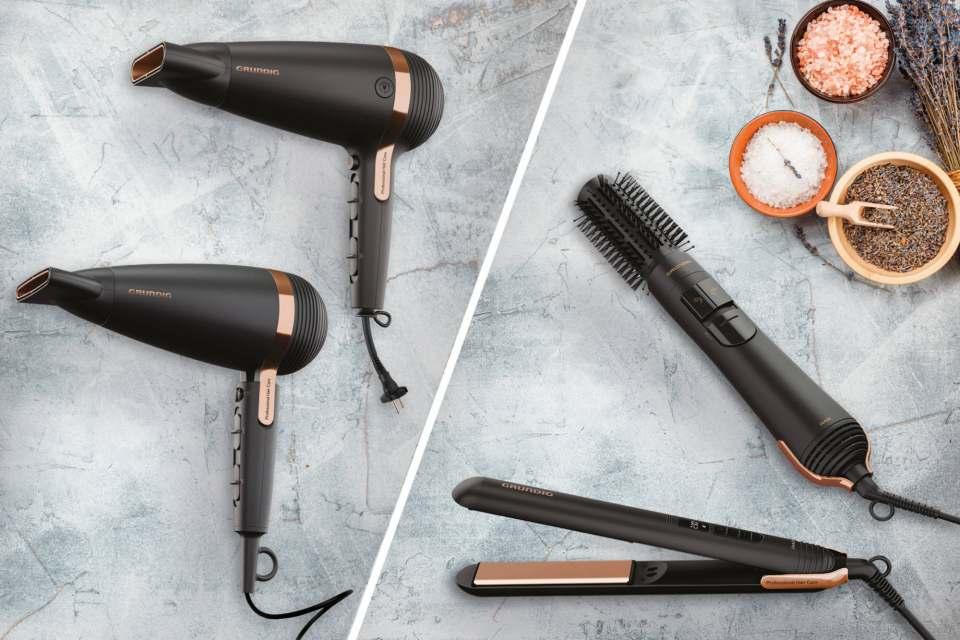 Das neue Vierergespann für gesunde Haare: die NaturaShine Serie von Grundig