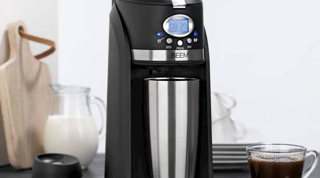 """Beem Thermo 2 Go"", die Single-Filter-Kaffeemaschine inklusive Thermobecher."