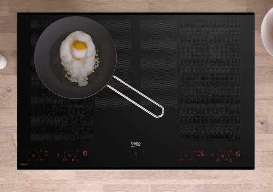 Beko Induktionskochfeld HII 88810 NTX mit Slide&Cook-Funktion.