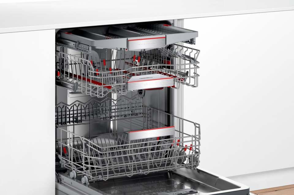 Bosch Geschirrspüler PerfectDry mit extra Clean Zone.
