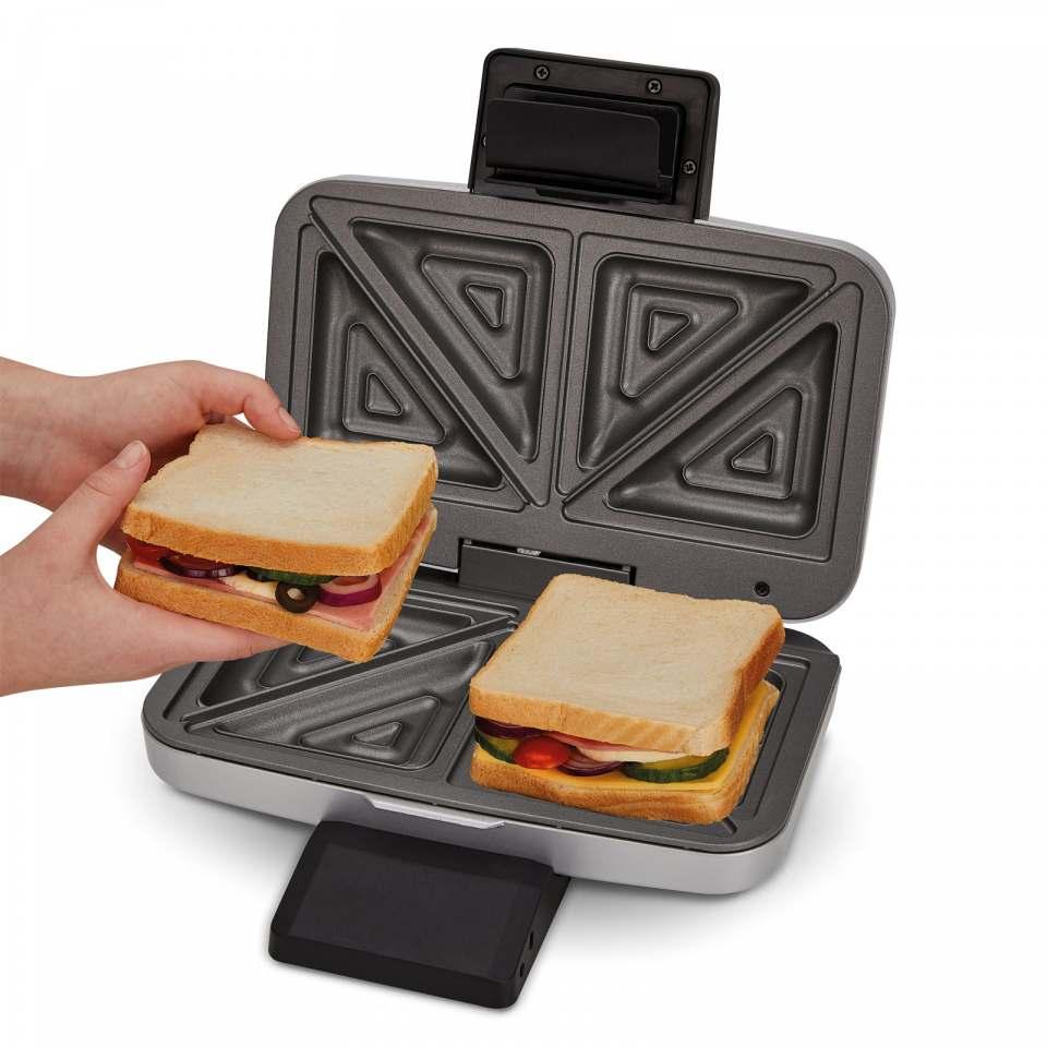 Cloer Sandwichmaker 6259 auch für XXL Füllungen.