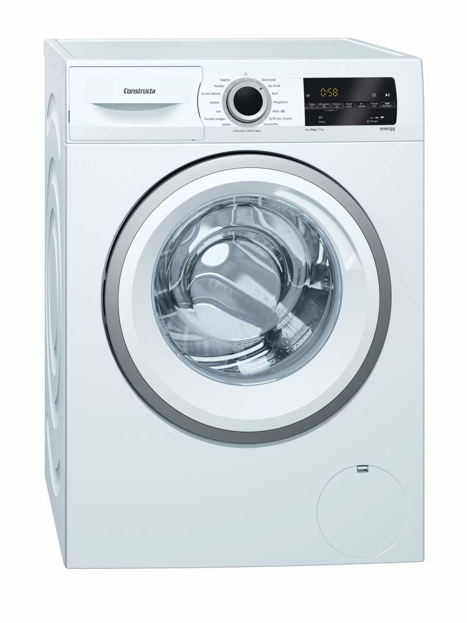 Constructa Waschmaschine CWF14WT0 mit Nachlegefunktion.