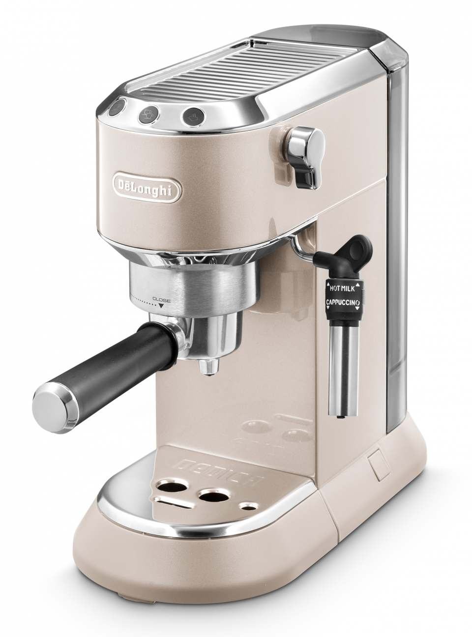 De'Longhi Espressomaschine Dedica Barista Bundle in 15 cm Breite.