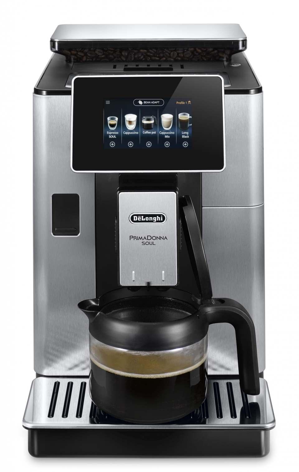 De'Longhi Kaffeevollautomat PrimaDonna Soul mit Bean Adapt.