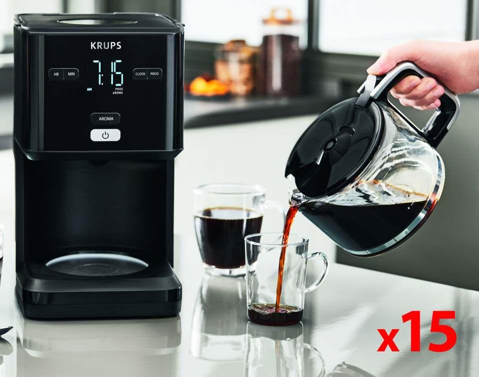 Krups Kaffeemaschine Smart'n Light für 15 Tassen Kaffee.