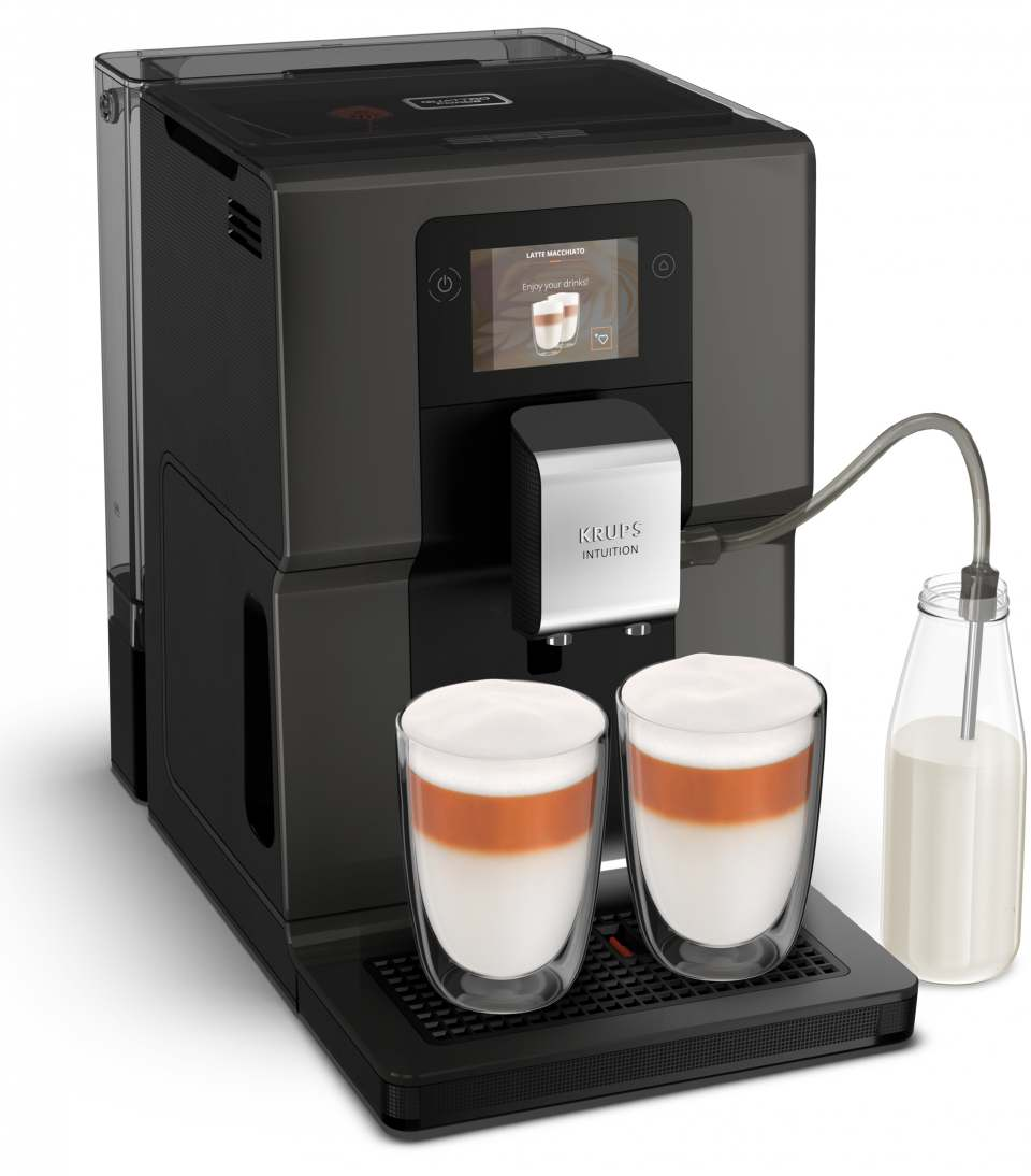 Krups Kaffeevollautomat Intuition Preference mit Smart-Slide-Touchscreen.