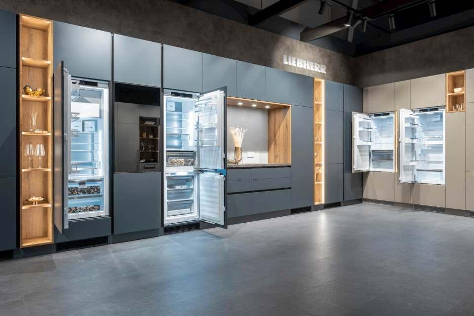 Lauter Premieren: Liebherr präsentierte seine Neuheiten zum zweiten mal in der Architekturwerkstatt in Löhne.