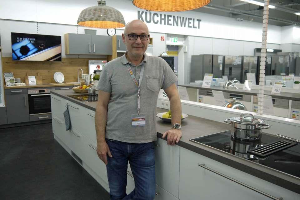 Udo Mählitz ist vom Support des Kooperationspartners Medimax begeistert. Im Rahmen seines individuellen Konzepts setzt er vor allem auf hochwertige Haushaltselektronik.