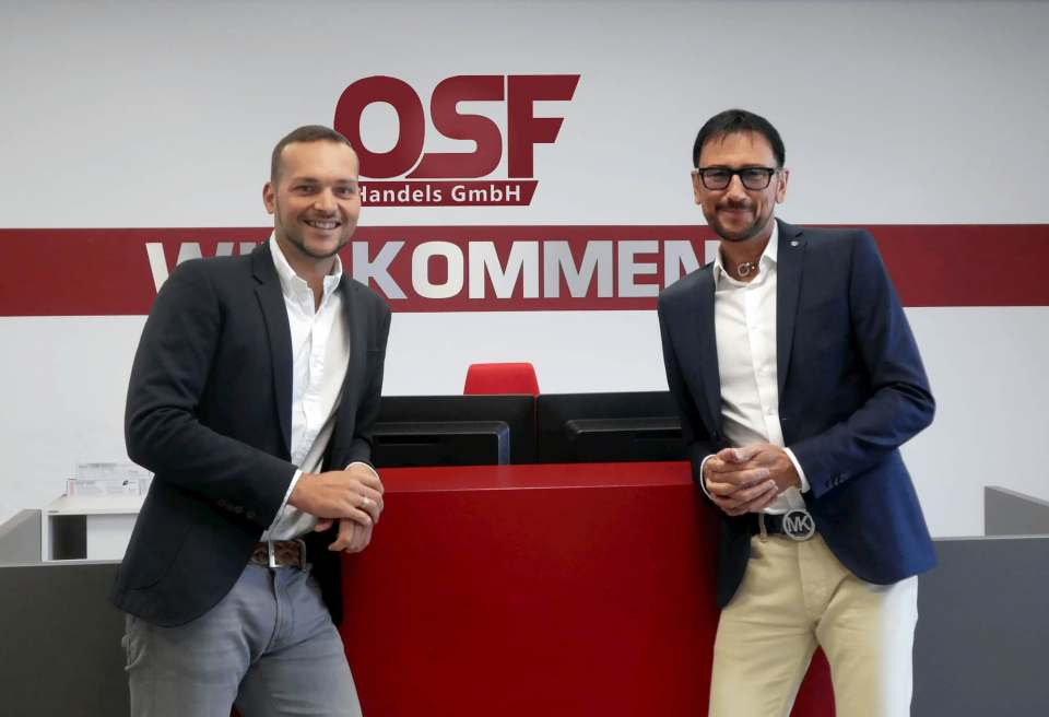 Ein eingespieltes, erfolgreiches Duo: die beiden OSF-Geschäftsführer Gerd Hartmann (l.) und Rainer Göllner.
