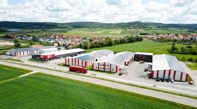 Das verspricht Lieferfähigkeit: Am Hauptstandort Ipsheim gibt es rund 10.000 Quadratmeter Lagerfläche.