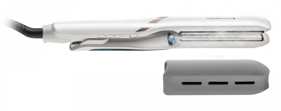 Remington Hydraluxe Haarglätter Pro S9001 mit Hydracare Nebel.