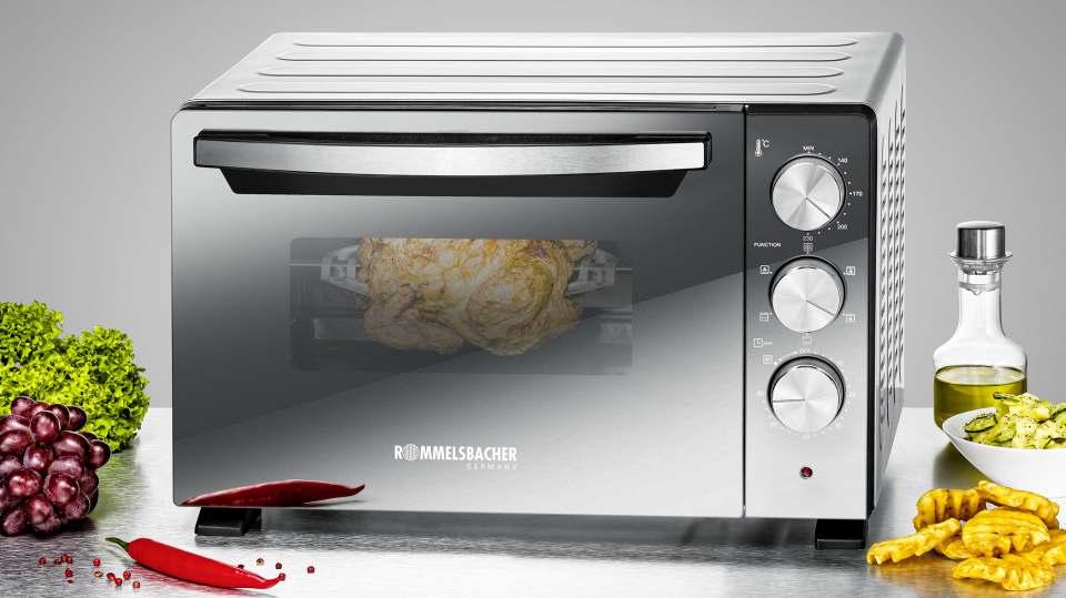 Rommelsbacher Ofen Back & Grill BGS 1400 ist ein kleiner Backofen.