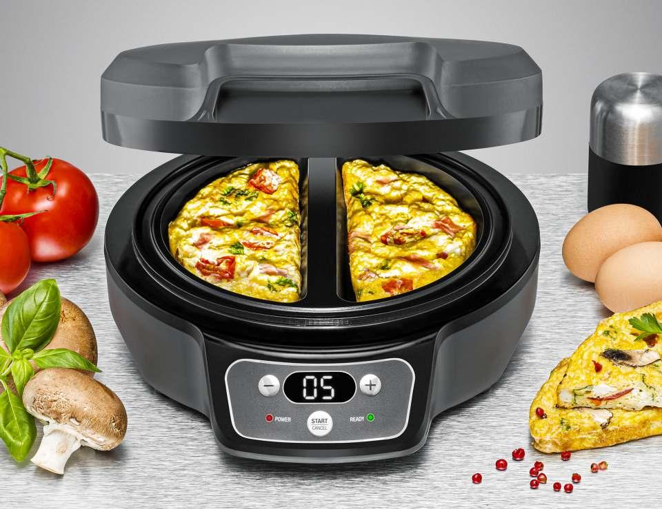 Rommelsbacher Omelett Chef Oskar OM 950 für saftige Omeletts.