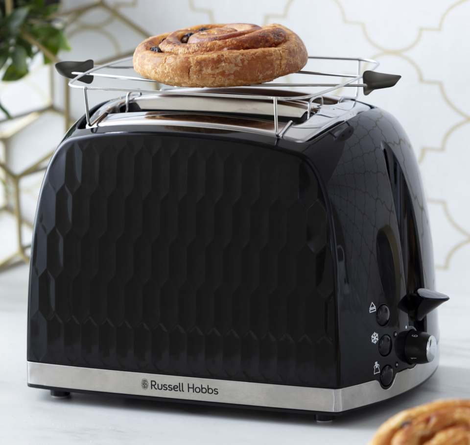 Russell Hobbs Toaster Honeycomb mit 2 extra breiten Toastschlitzen.