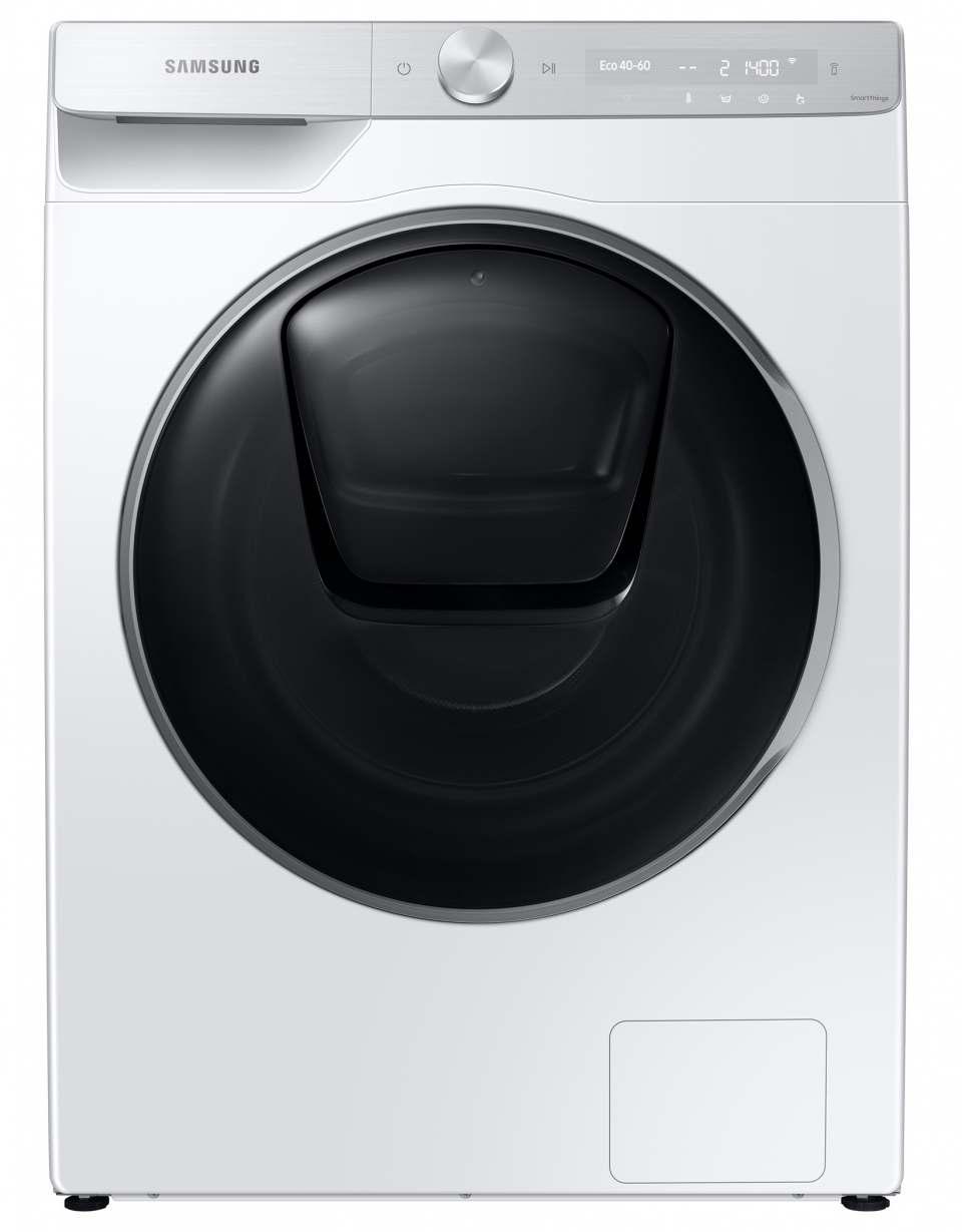 Samsung Waschmaschine WW9800T mit AddWash-Klappe.
