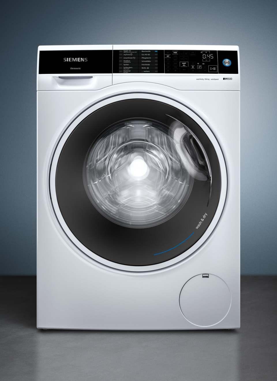 Siemens Waschtrockner iQ500 mit XL speedPack Wash & Dry.