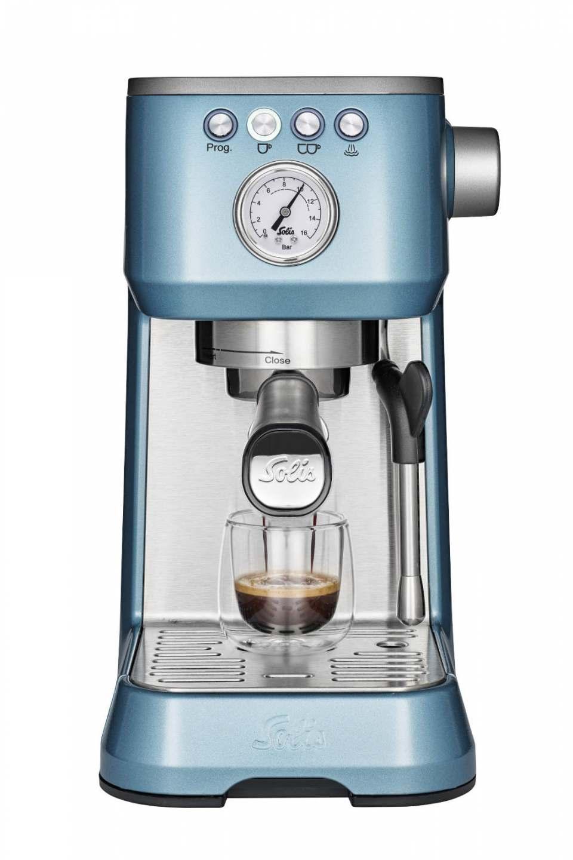 Solis Kaffeemaschine Barista Perfetta Plus mit 54 mm Edelstahl-Siebträger.