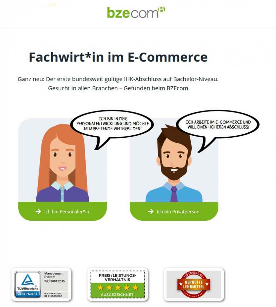 Fortbildung: IHK-zertifiziertes Fachpersonal im E-Commerce.