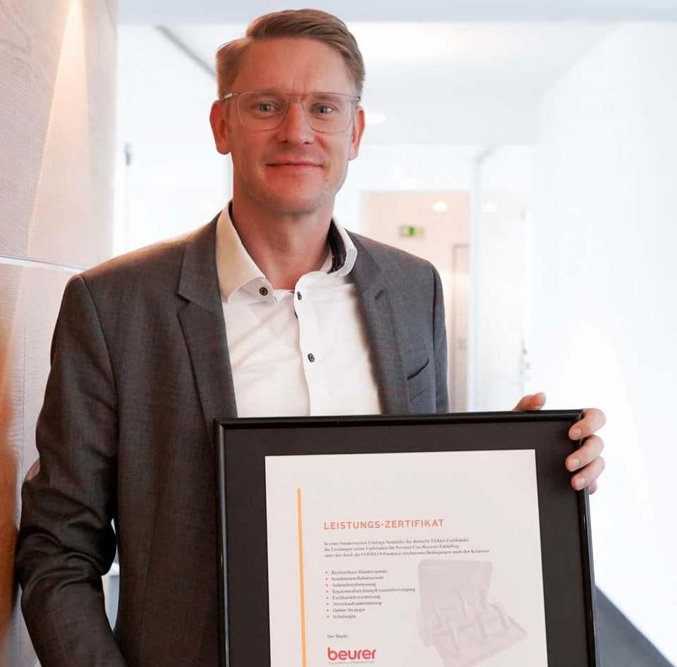 Sebastian Kebbe, Director Marketing & Sales Europe setzt auf die Fachhandelspartner als Säule des Erfolges.
