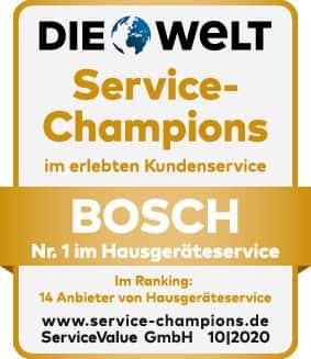 Den Titel verteidigt: Service-Champion Bosch Hausgeräte.