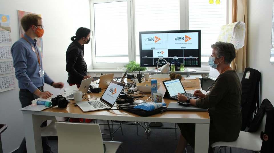 Die Vorbereitungen in Bielefeld laufen: Derzeit werden die digitalen Instrumente für eine interaktive Ordermesse mit Vehemenz weiterentwickelt.