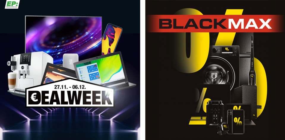 Die EP:Dealweek und der Blackmax bei Medimax werden durch ein umfassendes Marketing-Paket begleitet, um Endkunden auf verschiedenen Kanälen zu erreichen.