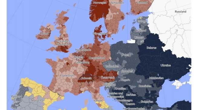 Die Kaufkraftunterschiede in Europa sind erheblich.