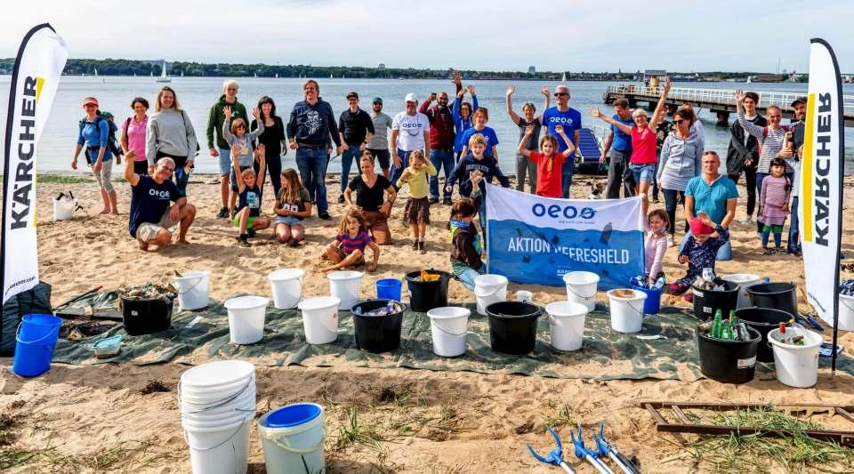 Kärcher Nachhaltigkeit: Strandreinigungen der deutschen Nord- und Ostseeküste in Kooperation mit dem Verein One Earth One Ocean.