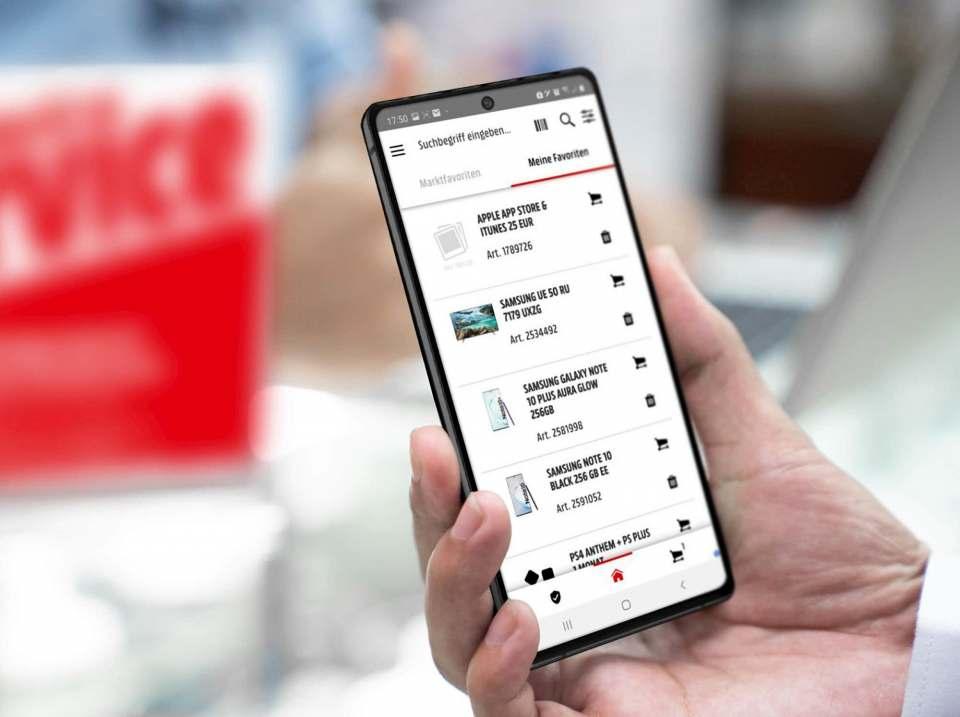 Sollen den Service bei MediaMarkt und Saturn verbessern: Smartphones für die Mitarbeiter.
