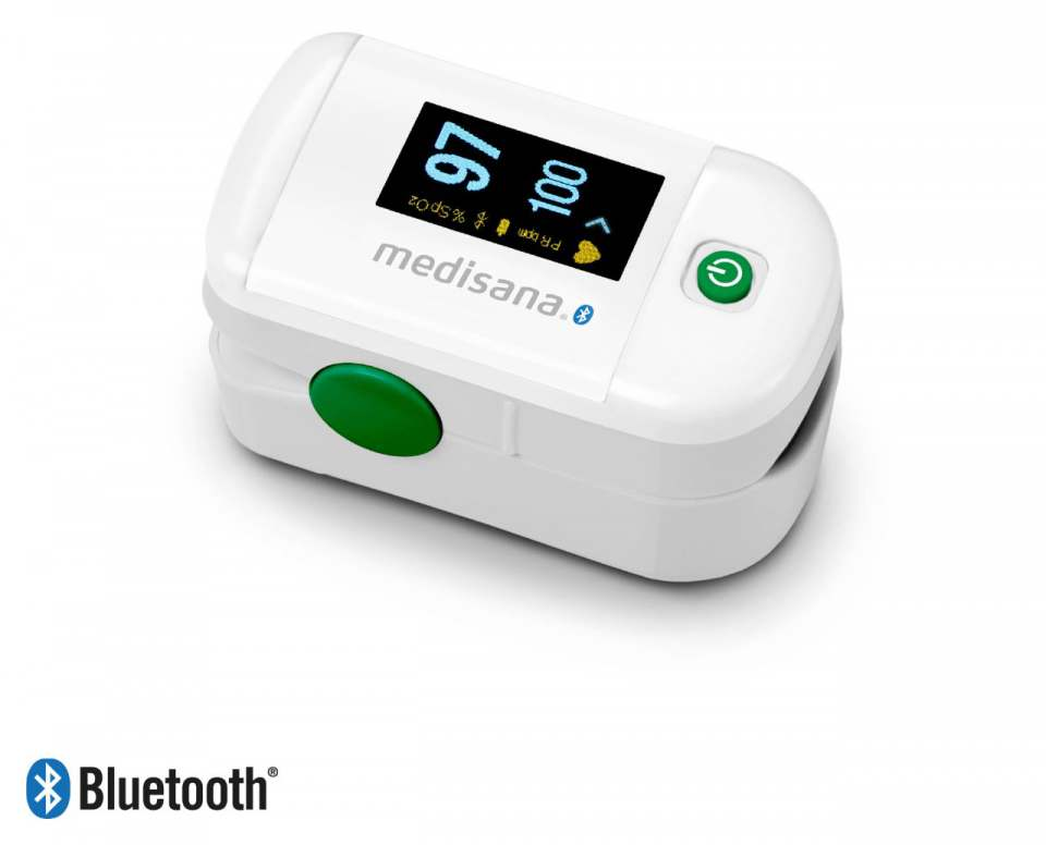 Medisana Pulsoximeter PM 100 connect mit One Touch-Bedienung.