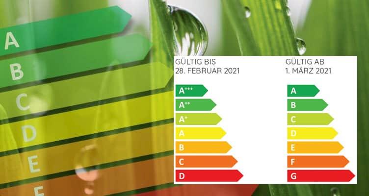 Kommt im März 2021: Die Neuskalierung der Energieeffizienzklassen.