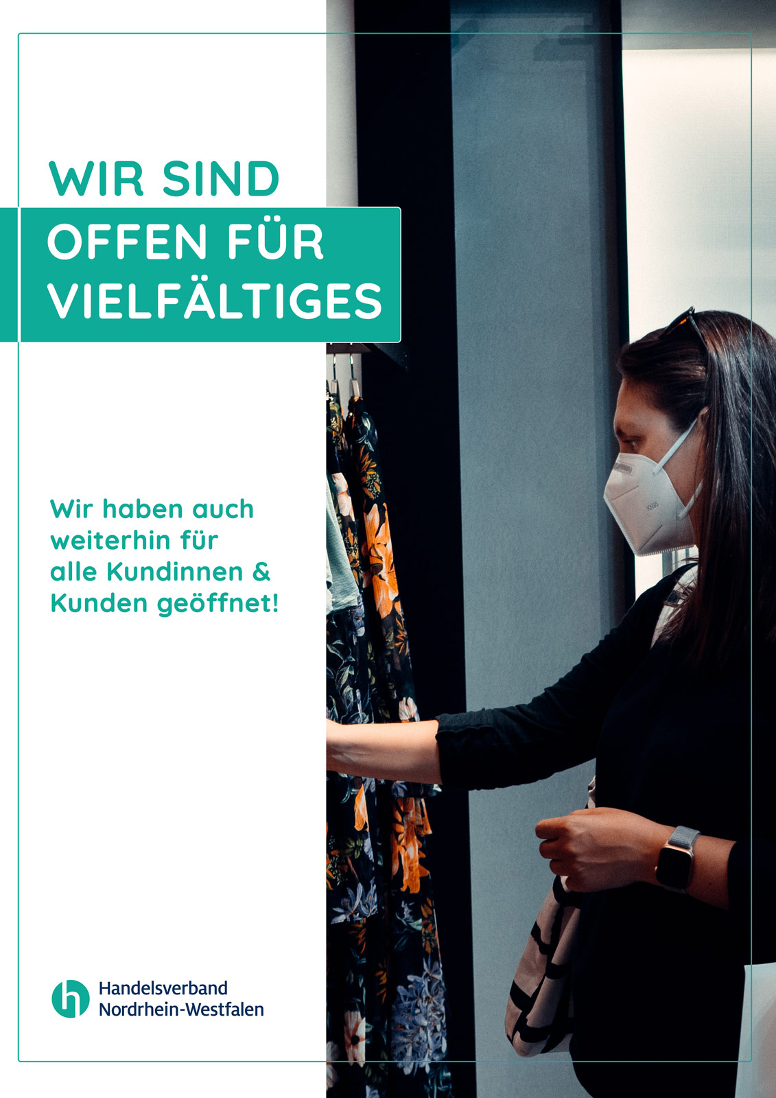 Sympathische, aufmerksamkeitsstarke Kampagne des Handelsverbandes NRW.