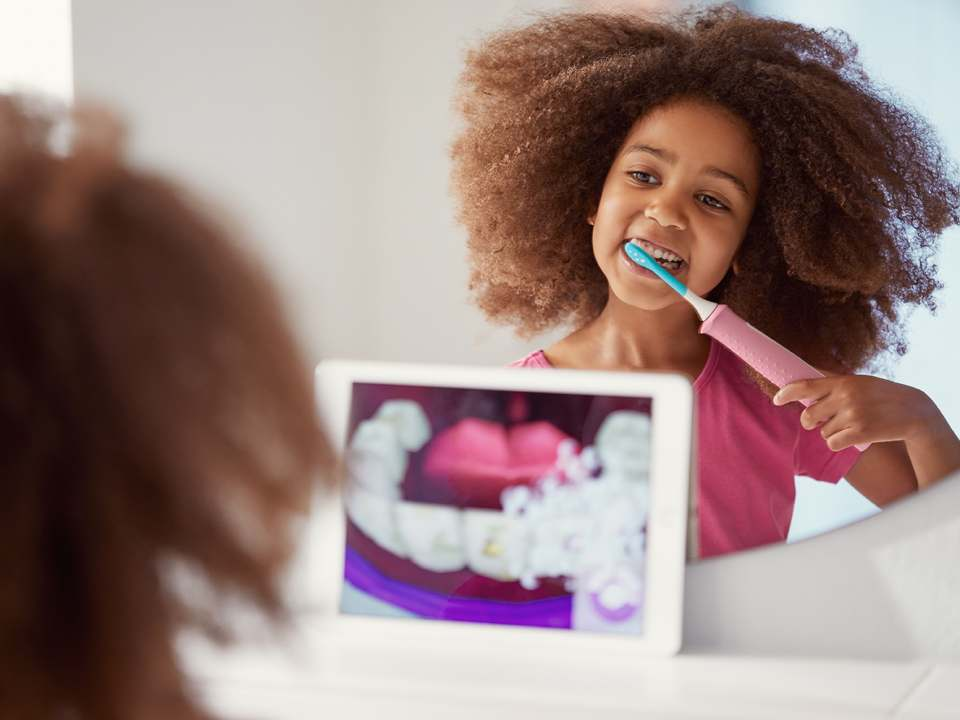 Philips Zahnbürste Sonicare For Kids Connected mit Coaching-App.