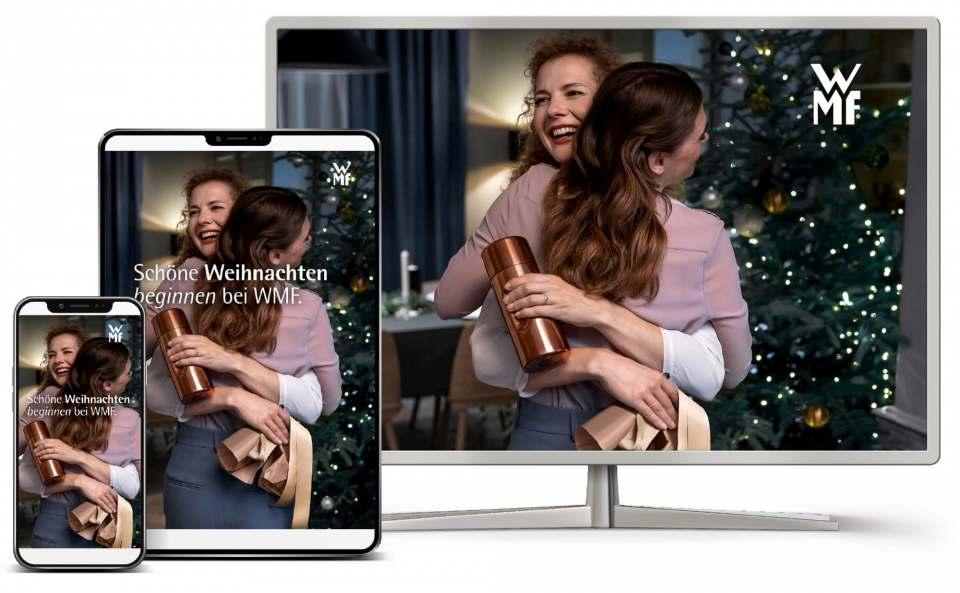 """400 Millionen Kundenkontakte: """"Schöne Weihnachten beginnen bei WMF""""."""