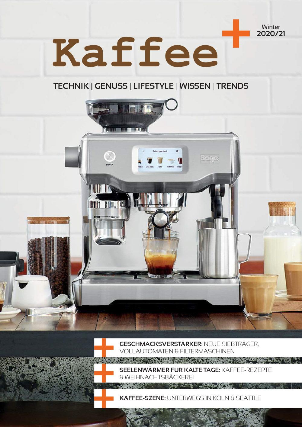 Kaffee+ Kaffeemagazin Titelseite