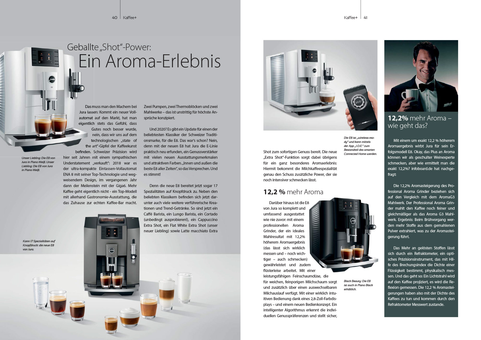 Kaffee+ Kaffeemagazin Inhaltsseite