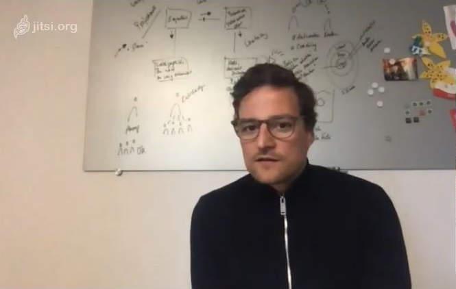"""Marcus Diekmann, hier im Digital-Talk, ist Initiator der Initiative """"Händler helfen Händlern"""" und CEO von Rose Bikes."""