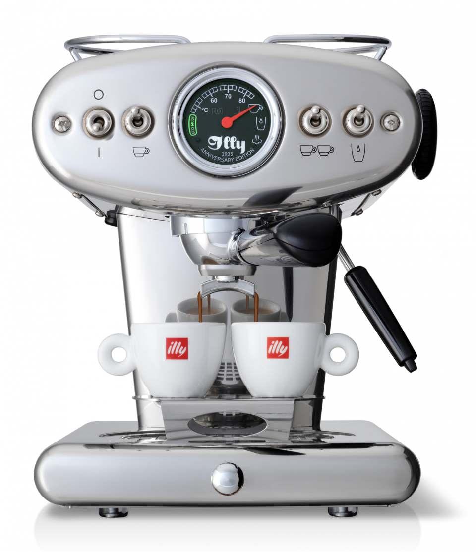Illy Kaffeemaschine X1 Anniversary E.S.E. & Ground mit Eco-Modus.