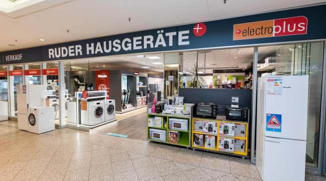 """Kompletter """"Relaunch"""" in 2020: Das 400 Quadratmeter große Ladenlokal von """"electroplus küchenplus Ruder"""" im """"Forum Köpenick""""."""