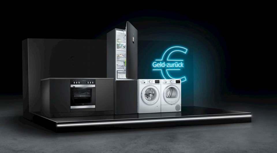 Bis zu 100 €uro Cash-Back: Siemens Geld-zurück-Aktion.