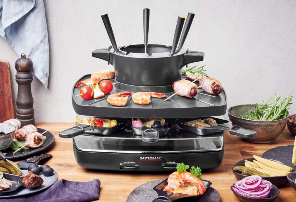 Top in Sachen Preis/Leistung: Raclette Fondue Set Family and Friends von Gastroback.