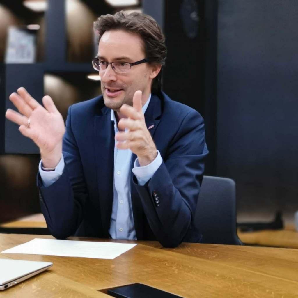 Die neue, aufmerksamkeitsstarke AEG-Markenkampagne trägt auch seine Handschrift: Michael Geisler, Geschäftsführer Electrolux Deutschland.