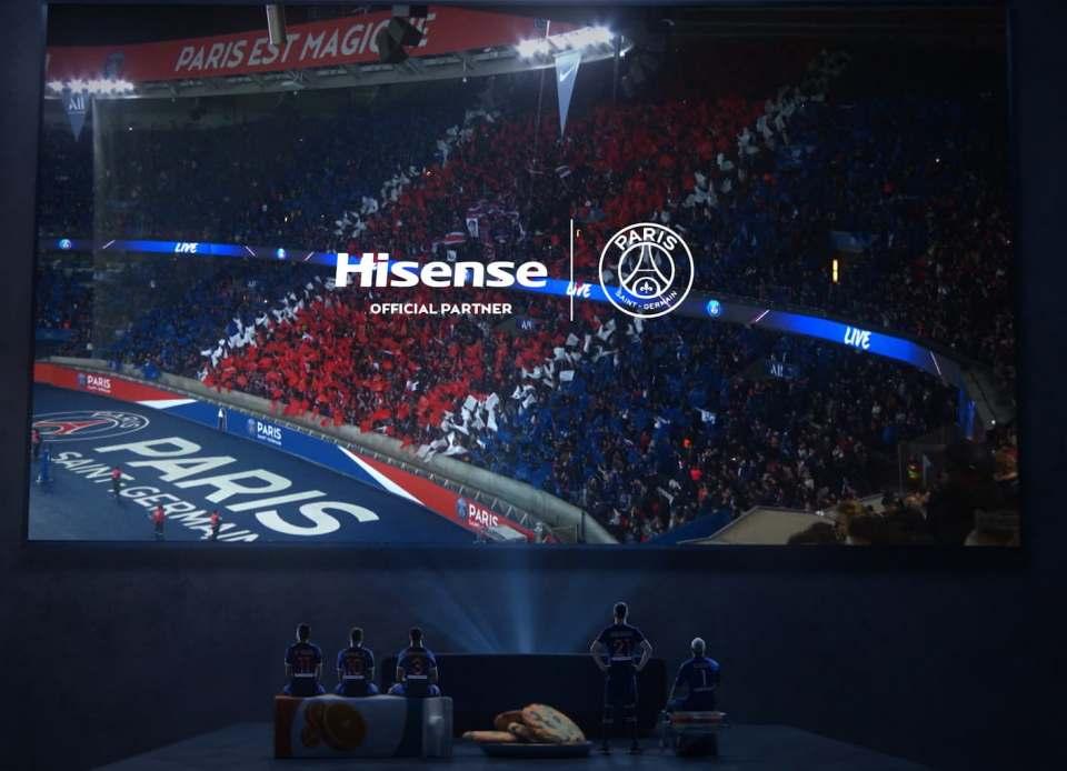 Im Mini-Format aktiv für Hisense: Die Stars vom Fußballclub Paris Saint-Germain.