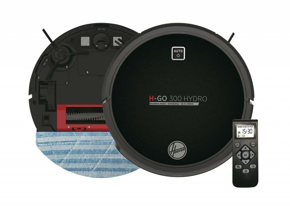 Hoover Saug-Wisch-Roboter H-Go 300 Hydro mit 5 Programmen.
