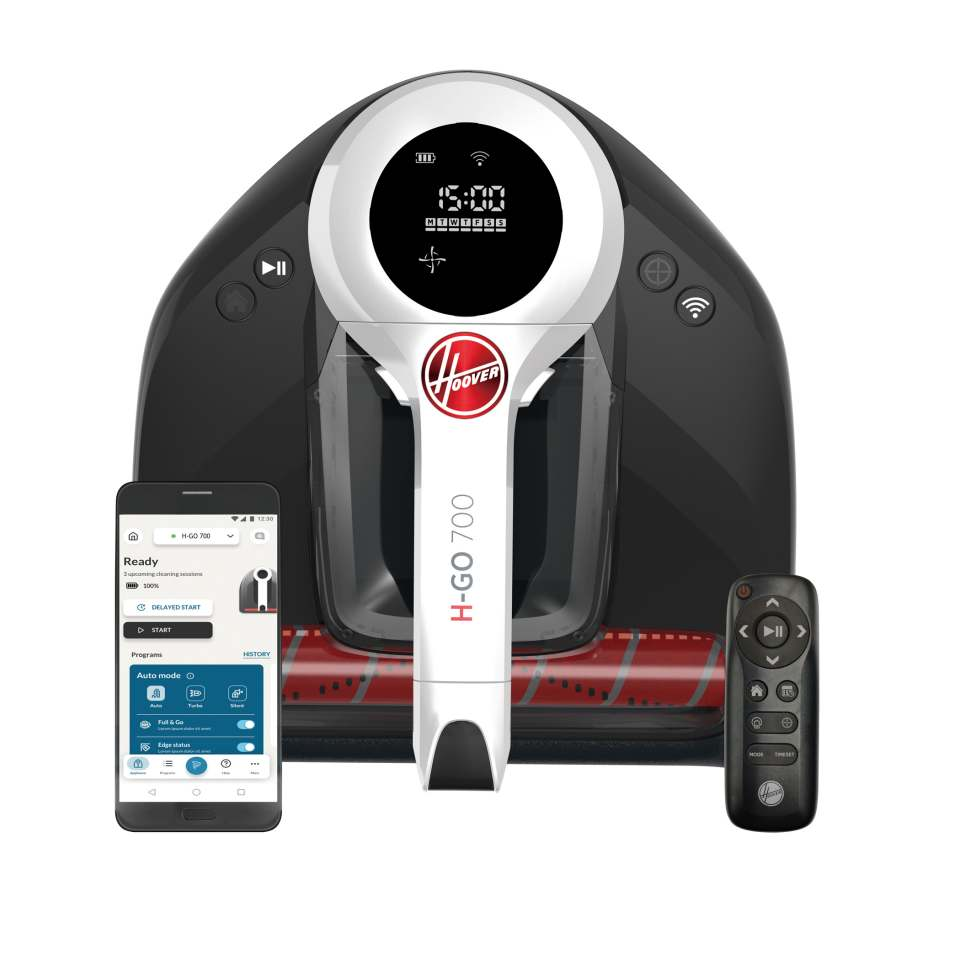 Hoover Staubsauger-Roboter H-Go 700 mit WiFi + Bluetooth Connected.